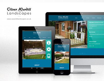 Oliver Wardill Landscapes | Logo, web design and build