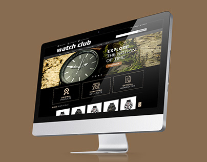 Watch Club Web Design