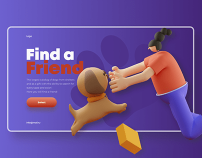 Shelter for dogs/landing page