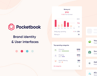 Pocketbooker 2.0 - Brand identity / User interfaces