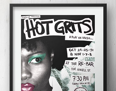 "Dirty Girl Productions ""Hot Grits"" Poster (print)"