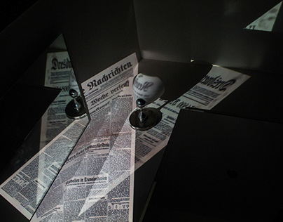 Distorted Newspaper   Projector Experiment