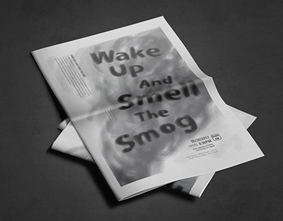 Air Pollution Poster—Wake Up and Smell the Smog