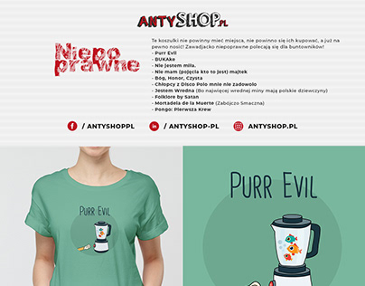 Antyshop.pl - Inappropriate t-shirts