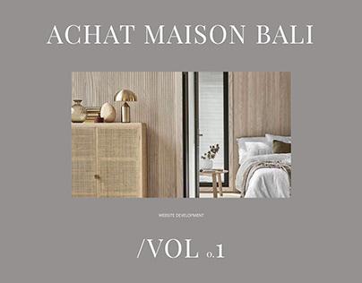 Achat Maison Bali