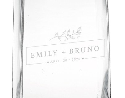 Engraved / Personalized Wedding Glass Vase