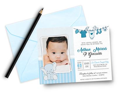 Christening Invitation for Baby Boy