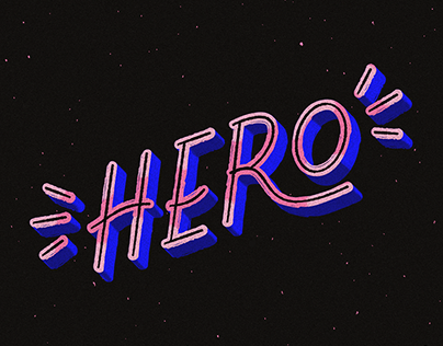 Need a Hero | Lettering