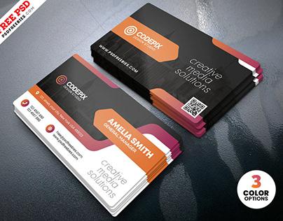 Creative Business Card Print PSD Template