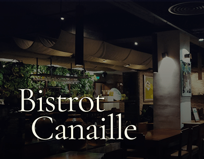 Bistrot Canaille redesign concept