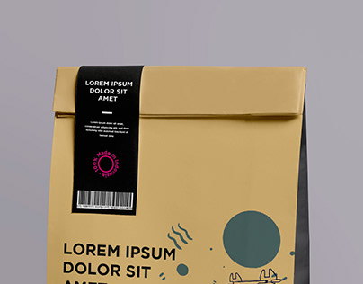 Paper bag packaging & Label design