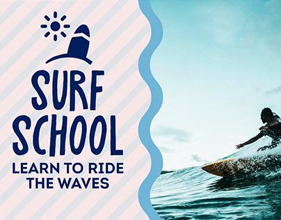 Surfing School Banner
