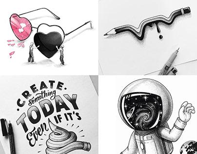 Mini illustrations 2019