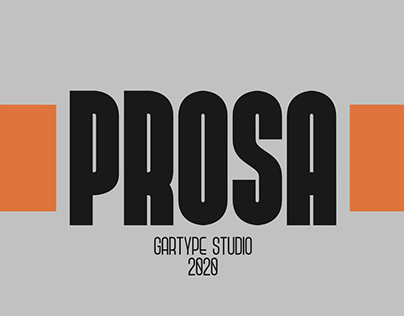 Prosa GT - FREE CONDENSED FONT