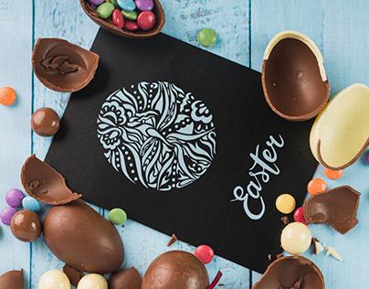 Easter Illustration for Greeting Card