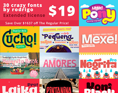 30 Creative Font Pack