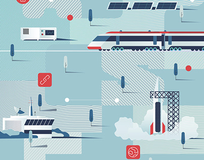 Illustrations for the company Space Communications