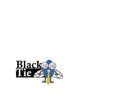 Black fly tie logo