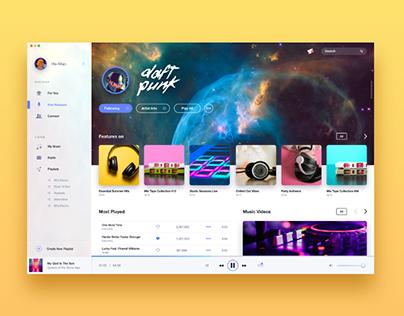 Music Player UI Exploration