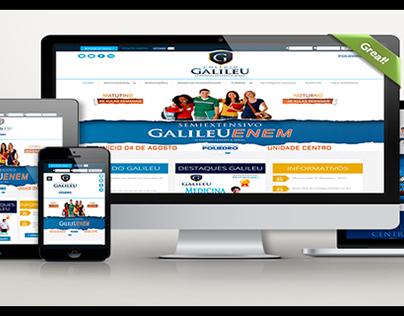 Colégio Galileu (Site Responsivo + Ger. de Conteúdo)