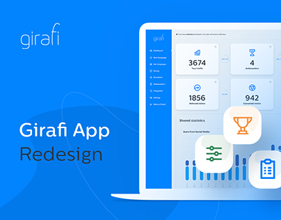 Girafi App Redesign - Referral program for E-commerce