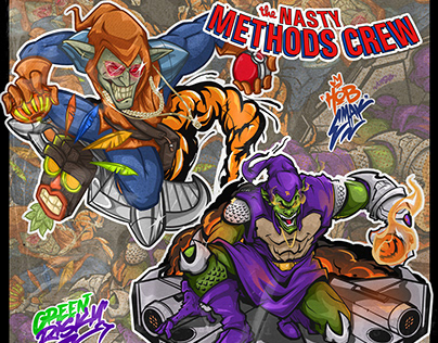"""The Nasty Methods Crew """" Green Risky X Hob Emak """""""
