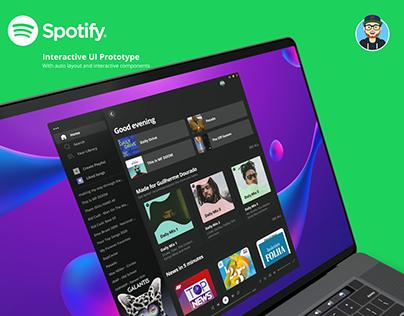 Spotify Layout on Figma