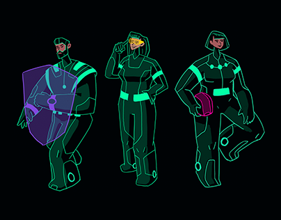 Character Design for Blockhain Company