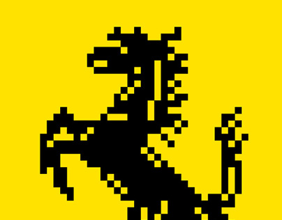 Ferrari logo pixel art