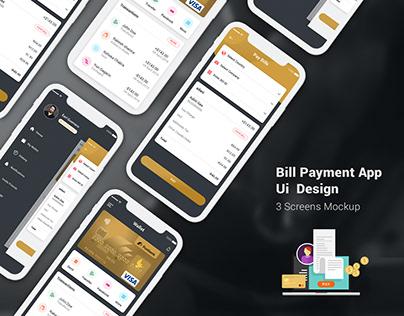 Bill Payment Ui Design Concept PSD