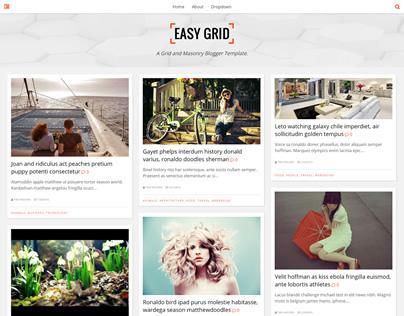 Easy Grid - Portfolio Masonry Blogger Template