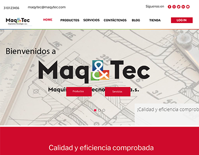 website redesign proposal for maqytec sas,