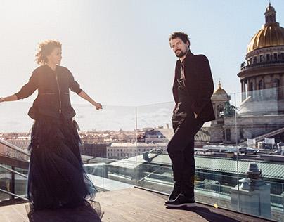 Danila Kozlovsky and Ksenija Rappoport for L'Officiel