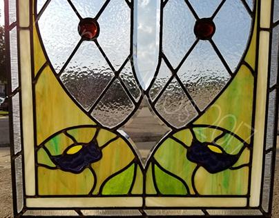 Art Deco Style New Leaded Panel - Original Design