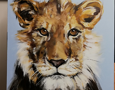 A young lion on my easel
