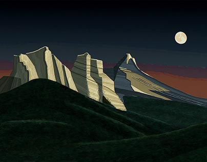 The Three Sisters and the Moon