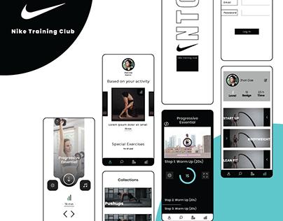 Nike Training Club App Redesign (nahianuiux)