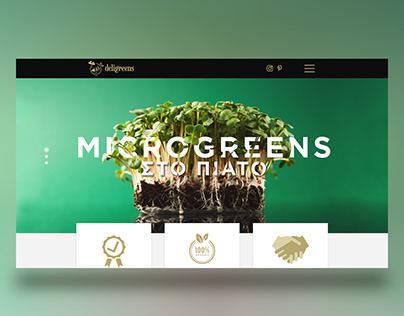 Website project | Microgreens