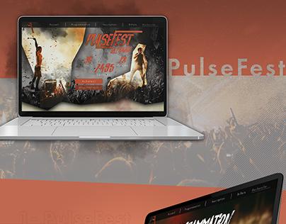 PulseFest - Maquette Web d'un festival Fictif