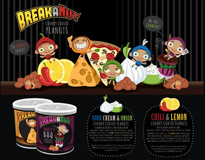 Break-a-Nut Package & Character Design