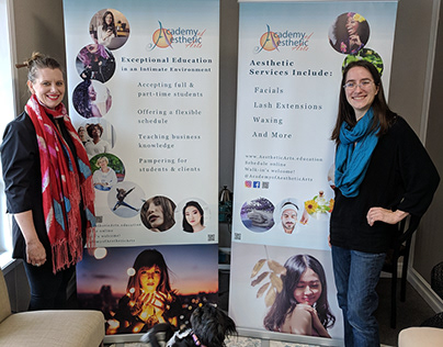 Retractable Banners design. Academy of Aesthetic Arts.