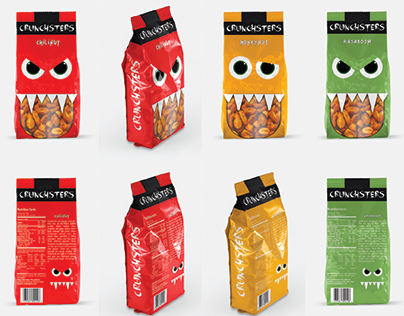 Crunchsters - peanut packaging