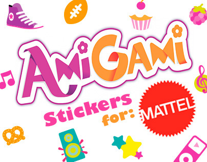 AmiGami Stickers for Mattel