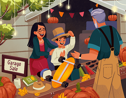 Family Moments: Bright People Illustrations