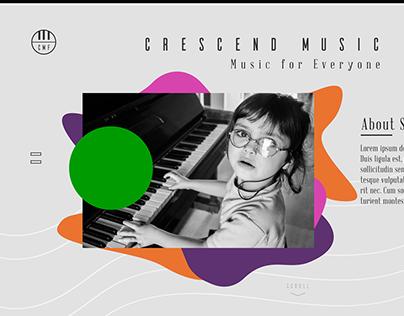 Demo Music School Web Design