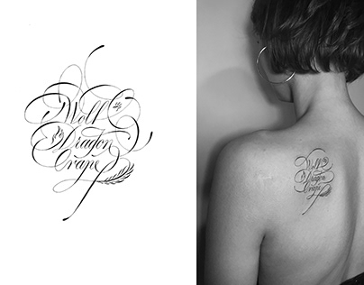 Calligraphy tattoos part 1