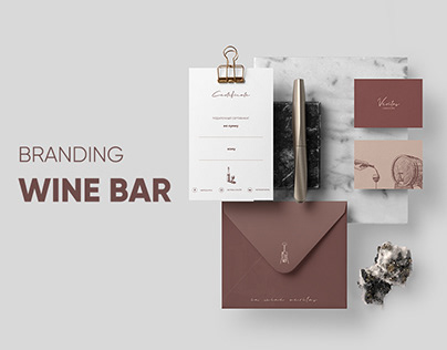 Branding. Wine bar in Moscow
