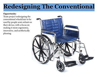 redesigning the conventional wheelchair