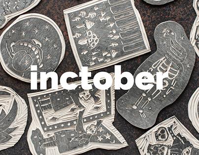 inctober. linocut.