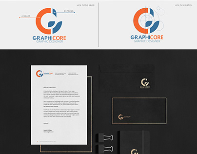 GraphicCore Logo & branding identity